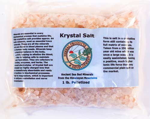 Krystal Salt – Granulated, Pelletized, Rocks